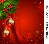 red christmas background with... | Shutterstock .eps vector #88203640