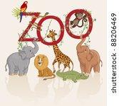vector illustration  animals... | Shutterstock .eps vector #88206469