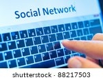 social network on touch screen... | Shutterstock . vector #88217503