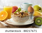 healthy breakfast | Shutterstock . vector #88217671