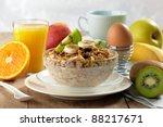 healthy breakfast   Shutterstock . vector #88217671