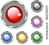 glossy button | Shutterstock .eps vector #88220695