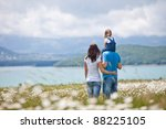 happy family having fun outdoors | Shutterstock . vector #88225105