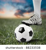 foot of a football player | Shutterstock . vector #88233538