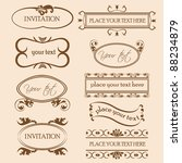 set of decorative frame... | Shutterstock .eps vector #88234879