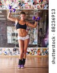 Young Fitness Woman With...