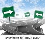 staying on course symbol  as a... | Shutterstock . vector #88241680