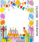 birthday party | Shutterstock .eps vector #8824741
