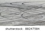 tire marks on road track | Shutterstock . vector #88247584