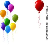 colourful glossy balloons. red  ... | Shutterstock .eps vector #88249819