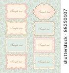 vector set  vintage labels | Shutterstock .eps vector #88250107