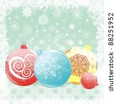 vector christmas background | Shutterstock . vector #88251952