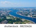 Birdseye View Of Neva River An...