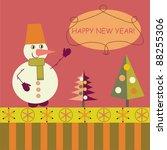 snowman | Shutterstock .eps vector #88255306