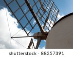 Old Windmill Detail - stock photo