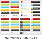 a collection of web buttons in... | Shutterstock .eps vector #88261714