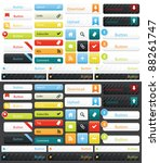 a collection of web buttons in... | Shutterstock .eps vector #88261747