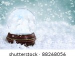 Magical Snow Globe With Clouds...