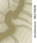 abstract topographic map in... | Shutterstock .eps vector #88270858