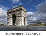 arc de triomphe in paris france ... | Shutterstock . vector #88273978