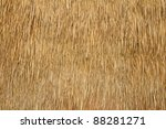 Wall Of Bulrush Thatch Covere...