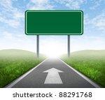 clear goals on an open straight ... | Shutterstock . vector #88291768
