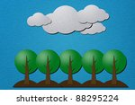weather and tree sand papercraft   Shutterstock . vector #88295224