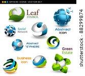 vector spheres | Shutterstock .eps vector #88299874