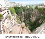 Small photo of Ronda, canyon, Andalusia, Spain American artists Ernest Hemingway and Orson Welles spent many summers in Ronda..