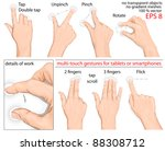 vector set of commonly used... | Shutterstock .eps vector #88308712