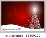 christmas background with... | Shutterstock .eps vector #88309132