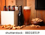 a glass of beer next to a six... | Shutterstock . vector #88318519