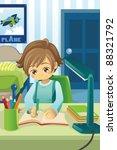 a vector illustration of a kid... | Shutterstock .eps vector #88321792