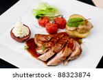 Roasted Duck With Pear...