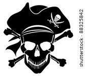 Pirate Skull Captain With Hat...