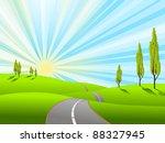 illustration landscape with... | Shutterstock . vector #88327945