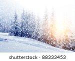 beautiful winter landscape with ... | Shutterstock . vector #88333453