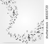 music notes  background | Shutterstock . vector #88333720