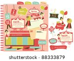 cute scrapbook elements  11  | Shutterstock .eps vector #88333879