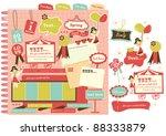 cute scrapbook elements  11  | Shutterstock .eps vector #88333879