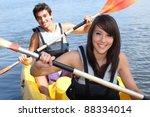 couple in kayak   Shutterstock . vector #88334014
