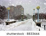 Stock Image Of A Snowing Winte...
