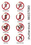vector stickers for allergen... | Shutterstock .eps vector #88337080