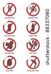 vector stickers for allergen...   Shutterstock .eps vector #88337080