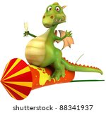 dragon and fireworks   Shutterstock . vector #88341937