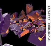 abstract purple debris with an...   Shutterstock . vector #88354795