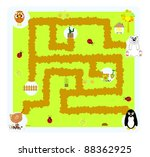 funny vector labyrinth for... | Shutterstock .eps vector #88362925