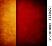 Red Paint Background With Gold...