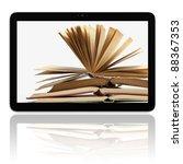 book and generic teblet... | Shutterstock . vector #88367353