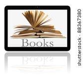 book and generic teblet... | Shutterstock . vector #88367380